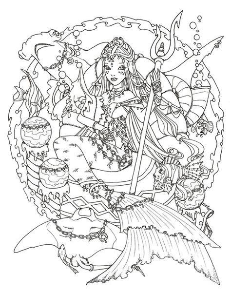 mermaid mandala coloring pages mermaid empress by valeriegallery deviantart coloring
