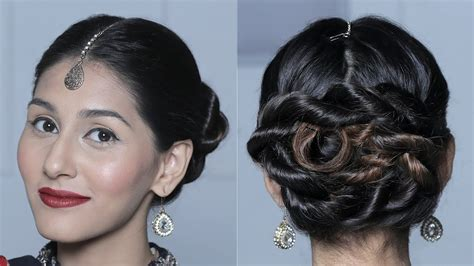 easy hairstyles glamrs wraparound double rope braided bun hairstyle quick