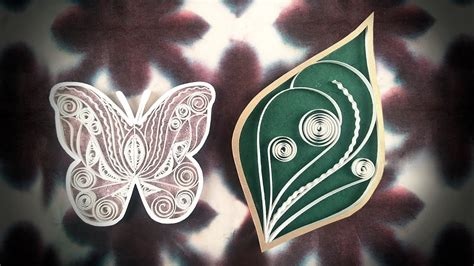 quilling tutorial advanced twisted quilling leaf tutorial butterfly quilling