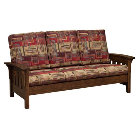 Amish Sofa by Amish Sofa American Mission Reclining Sofa Thesofa