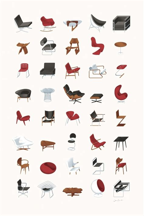 Iconic Chairs Of 20th Century chair icons icons pictos pinterest colors chairs