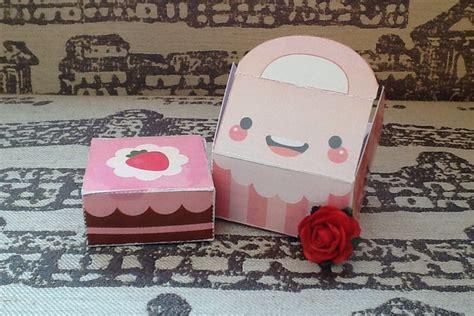 Cake Papercraft - cake box papercraft diy