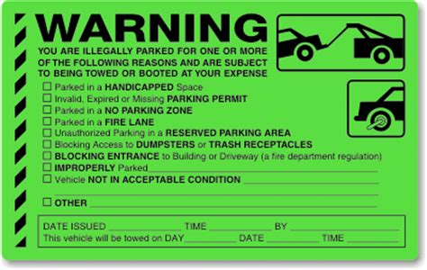 blank hanging parking permits colored signs sku pp 0164