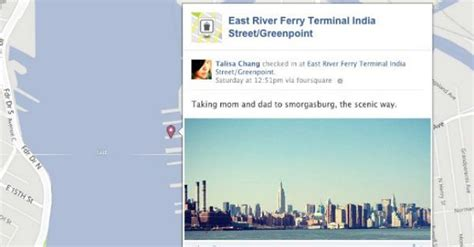 facebook timeline mashable foursquare check ins now on facebook timeline map