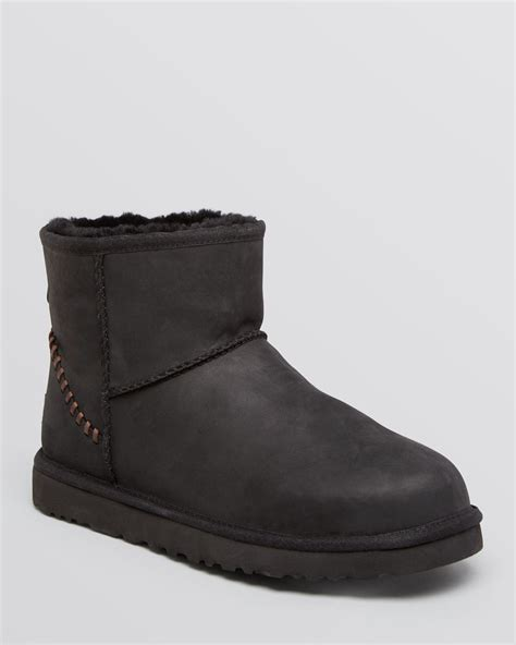 ugg ugg 174 australia classic mini deco leather boots in