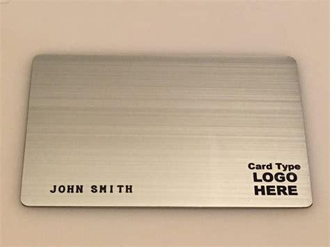 metal card template custom metal credit cards