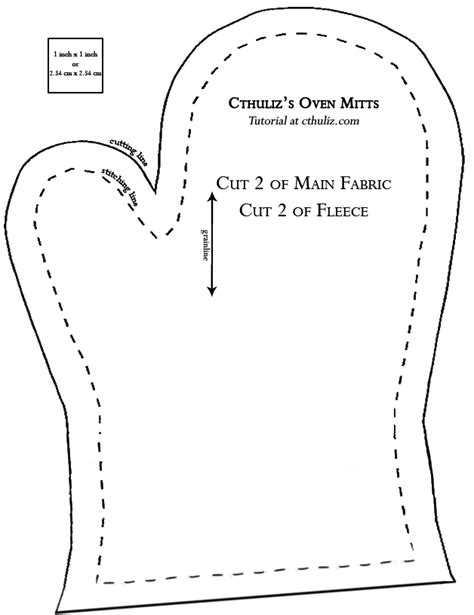 Fleece mitten pattern printable free sew your own oven mitts in 10