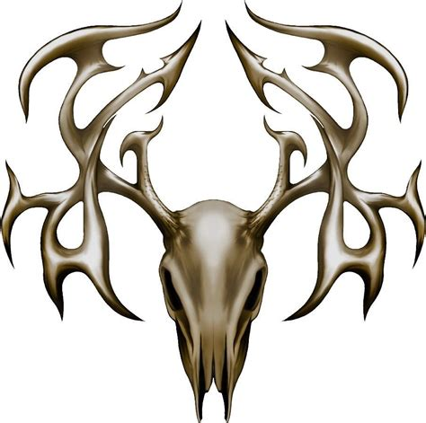 deer skull tribal tattoos deer buck tribal skull decal set awesome