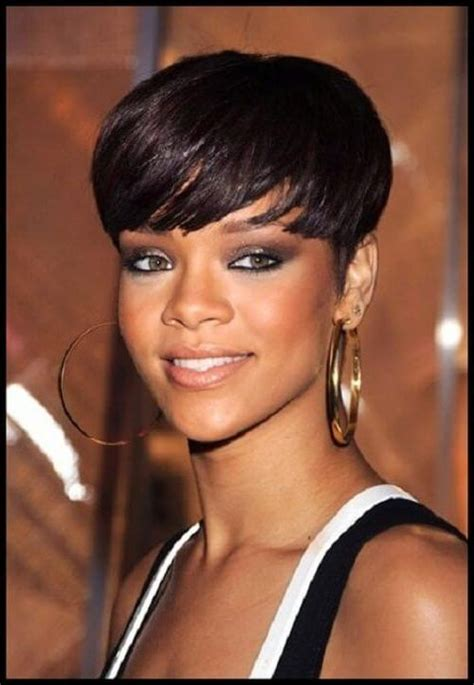 15 collection of short hairstyles for black women with fat 15 collection of rihanna bob hairstyles with weave