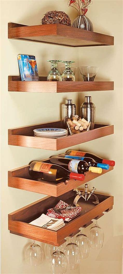 Corner Bar Shelf Ideas Diy Floating Shelves