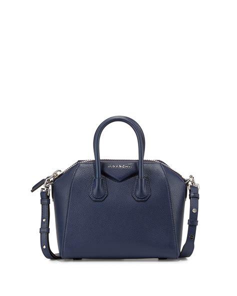 Givenchy Antigona Mini Bag givenchy antigona mini leather satchel bag in blue lyst
