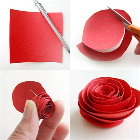 How To Make Paper Roses Step By Step With Pictures - imgs for gt how to make paper flowers step by step easy for