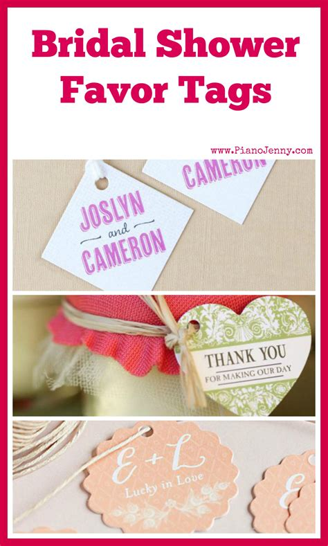 correct wording for bridal shower favor tag bridal shower favor tags mccoy blaske