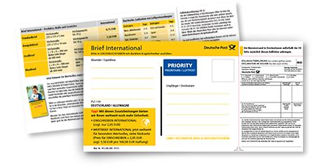 Post Schweiz Brief International Warensendung International Warenversand International Deutsche Post Brief International
