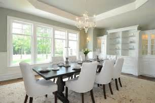 Sage Green Dining Room by Tray Ceiling Dining Room Home Design