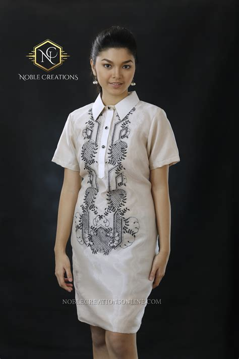 filipiniana embroidered barong silk dress philippines