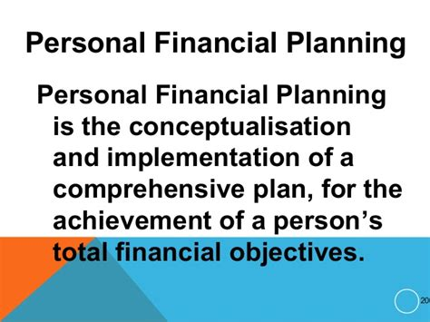 Mba In Personal Financial Planning by Personal Financial Planning