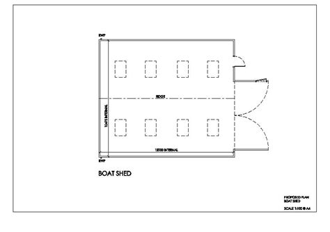 boat shed plan