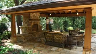 Outdoor Living Areas by Outdoor Living Spaces With Water Feature And Greens