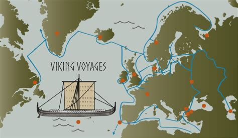 places traveled map where the vikings voyaged interactive map