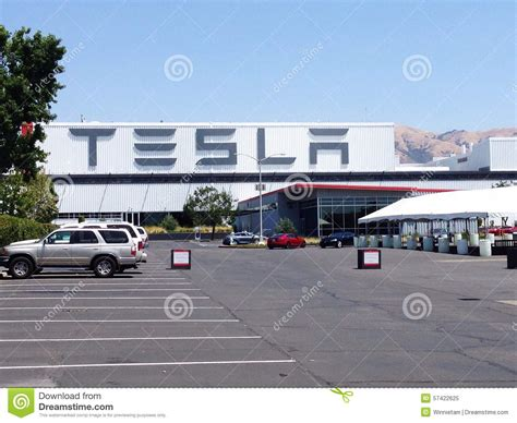 tesla fremont california tesla motors factory editorial image image 57422625