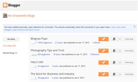 Membuat Blog Google | buat blog gratis di google