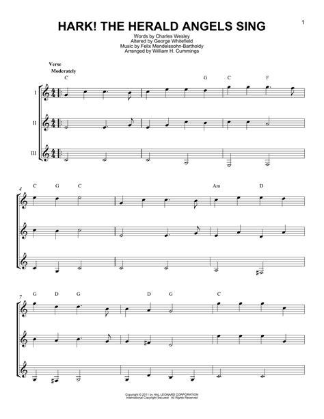 printable lyrics to hark the herald angels sing hark the herald angels sing sheet music by charles wesley
