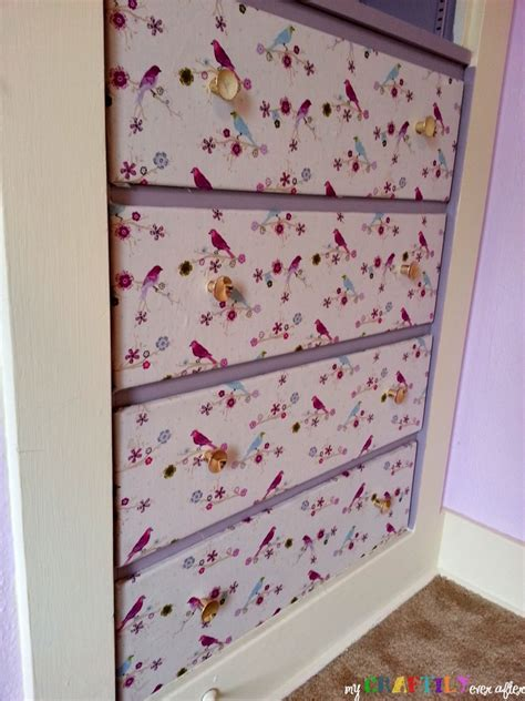 Fabric Dresser Drawers by Fabric Covered Dresser Drawers Craftily After