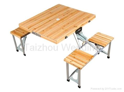 Folding Wood Picnic Table Outdoor Portable Wooden Folding Cing Picnic Table Wd9920 A Wd China Other Furniture
