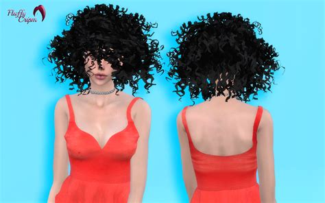 curly hair sims 4 fluffy crimp curly hair converted to sims 4