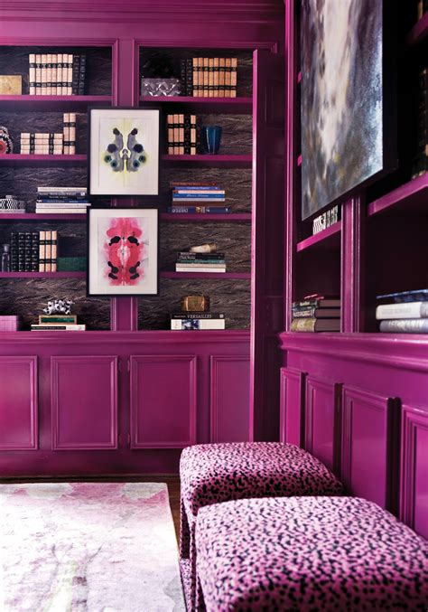 suzy q better decorating bible ideas library office home purple violet walls