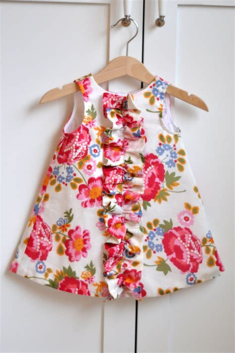 baby dress ruffled chemise for baby and sewing pattern pdf instant