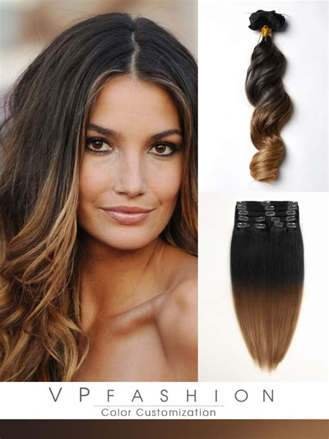 Hairclip Wavy 40 50cm ombre hair extensions vpfashion