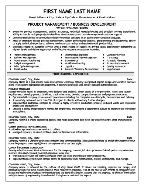 project management resume sles free project manager resume sle best free home
