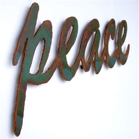 metal peace sign wall decor peace sign wall m wall decal