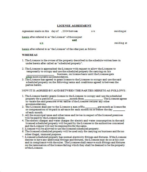 content license agreement template manufacturing license agreement template 28 images sle