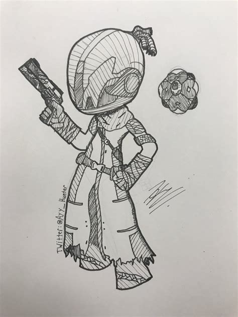 Destiny 2 Sketches by Huntrollian On Quot My Warlock His Ghost