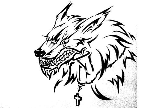 werewolf tribal tattoo tribal by soldiersfate deviantart on