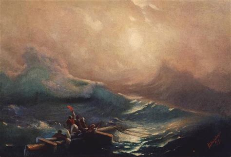 ivan aivazovsky the ninth wave graphicine the ninth wave study 1857 ivan aivazovsky wikiart org