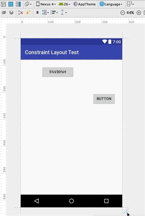 android layout height percentage of width android constraintlayout percentage based dimensions