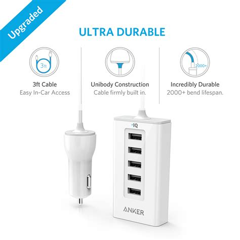 Anker Powerdrive 5 Port Car Charger Black A2311h12 anker powerdrive 5 port car charger tokopda