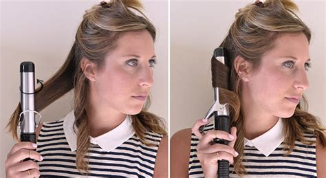 curling hair towards the face how to use a curling iron