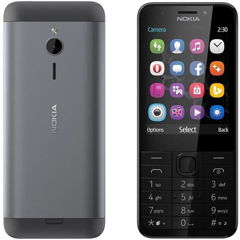 Nokia 230 D Silver nokia 230 grey on csmobiles