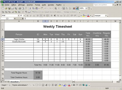 Timesheet Template Excel Template Business Microsoft Office Timesheet Template