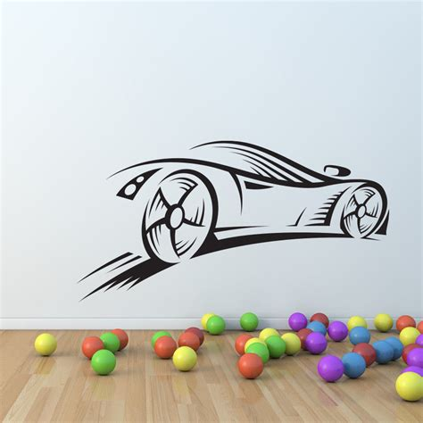 car wall decals for nursery sport car race speed wall decal nursery vinyl sticker