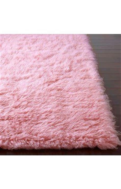 flokati area rug 3x5 pink wool handmade heavy soft shag