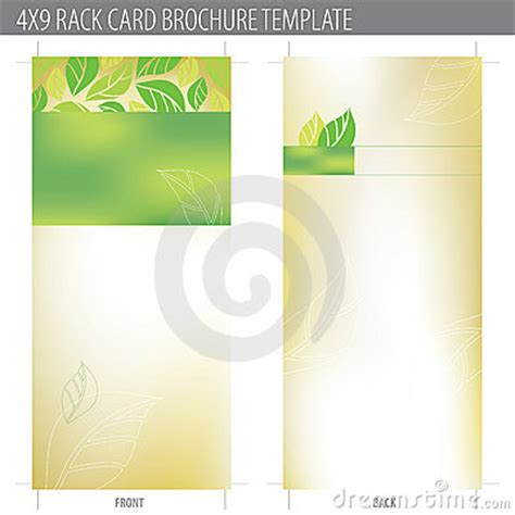 free template for 4x9 rack card 4x9 rack card brochure template royalty free stock image