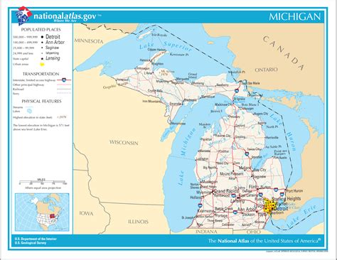 america map michigan map of michigan map worldofmaps net