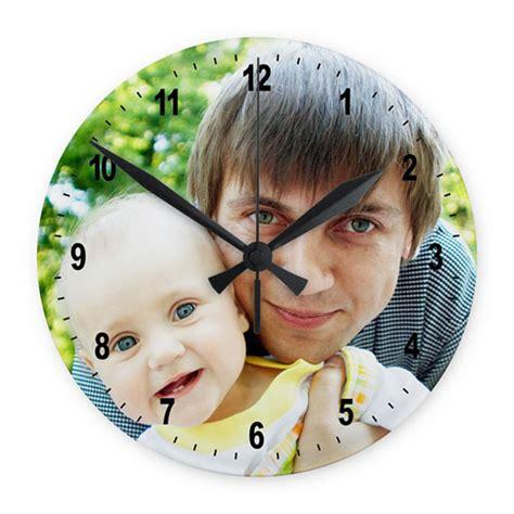 print your photo frameless wall clock