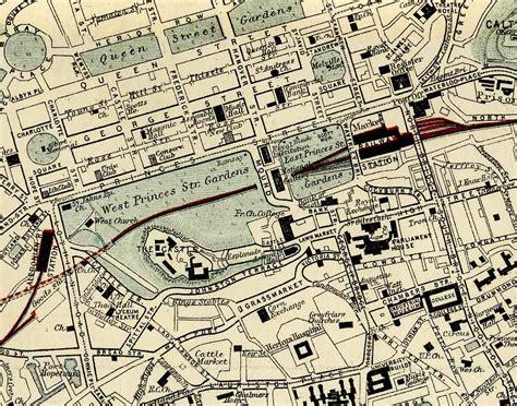 printable maps edinburgh city centre maps of roads